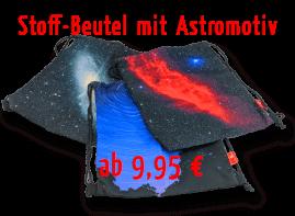 Beutel mit Astronomie-Motiv