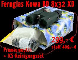 Kowa Fernglas BD 8x32 mit Reinigungsset