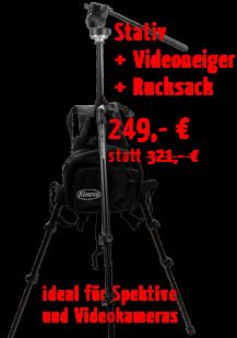 Manfrotto Stativ-und-Video-Set mit Stativ Tragesystem bestehend aus einem Stativrucksack