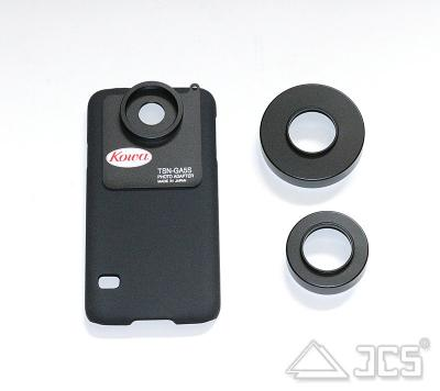 Samsung Galaxy S5 Adapter KOWA TSN-GA5S mit Adapterringen D41 mm und D55 mm