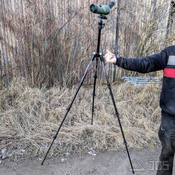 KOWA 50mm Mini-Spektiv TSN-501 Schrägeinblick Set mit BEFREE Carbon Stativ