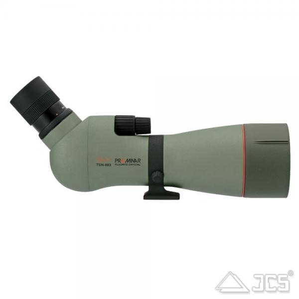 KOWA 88mm Spektiv TSN-883 Fluorit Schräg SET mit 1,6x Extender und Zoom-Okular 25-60x / 40-96x
