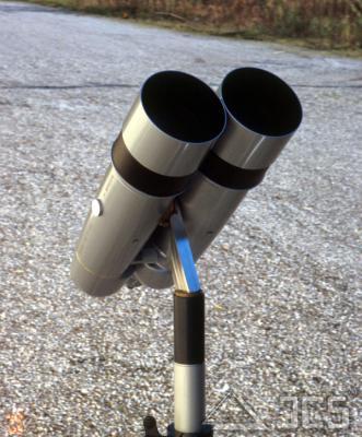 """ICS Montierung für Miyauchi 20x100 incl. Stativadapter für 3/8"""" Fotogewinde"""