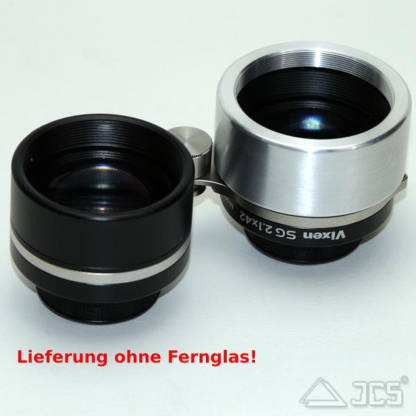 ICS Aufsteck Filterhalter für Vixen SG 2,1 x 42 mit Filtergewinde M48x0,75, silber poliert