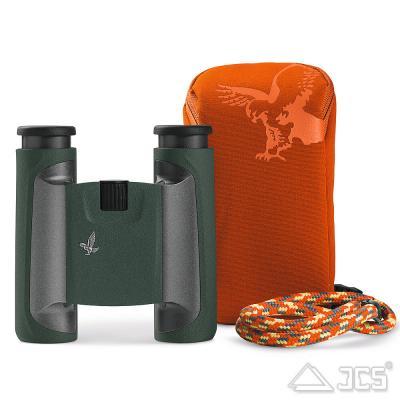 Swarovski CL Pocket 8x25 grün, Mountain Fernglas, incl. Tasche, Riemen, Microfasertuch