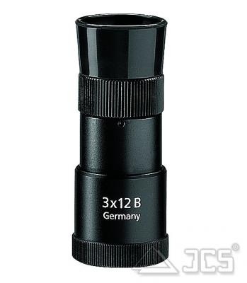Zeiss Mono 3x12 T* Monokular und Fernglas-Verstärker 2 in 1 incl. edler Weichledertasche und Riemen