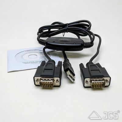 RS-232 Kabel 2x an USB Seriell Adapter