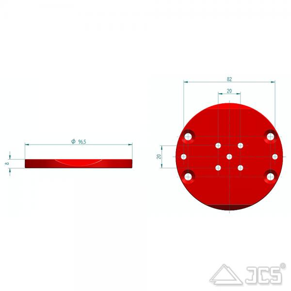 PrimaLuceLab PLUS AZ-EQ5 Adapterplatte