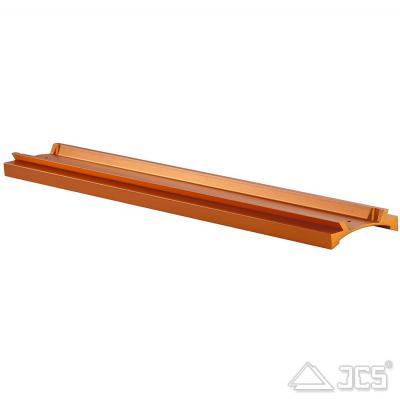 """Prismen-Schiene 3"""" für C14 mit Bohrungen für C14, orange eloxiert"""