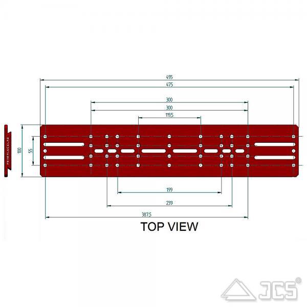 """PrimaLuceLab PLUS Losmandy Schiene 495mm Universal 3"""" Prismenschiene"""
