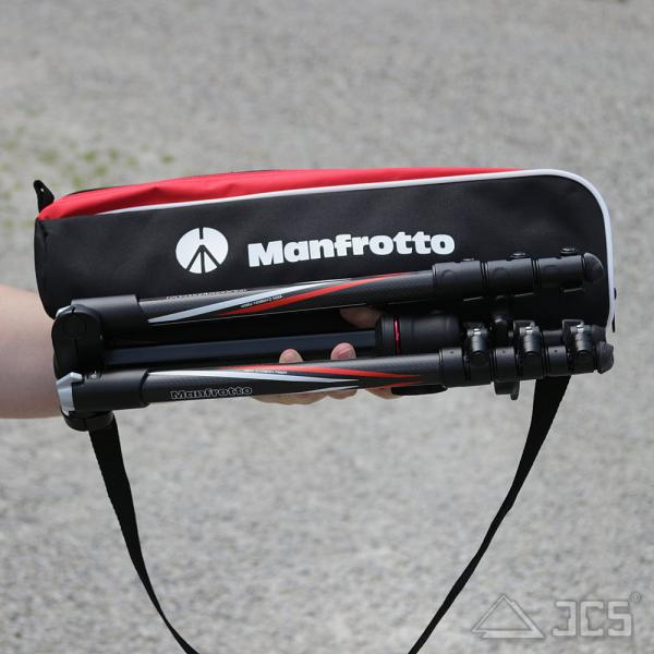 Manfrotto Reisestativ BEFREE Carbon Kit mit Kugelkopf RC2