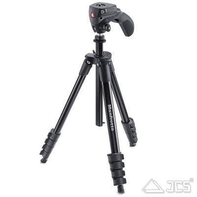 Manfrotto Kit Compact Action Schwarz mit Universal Foto/Video-Kopf