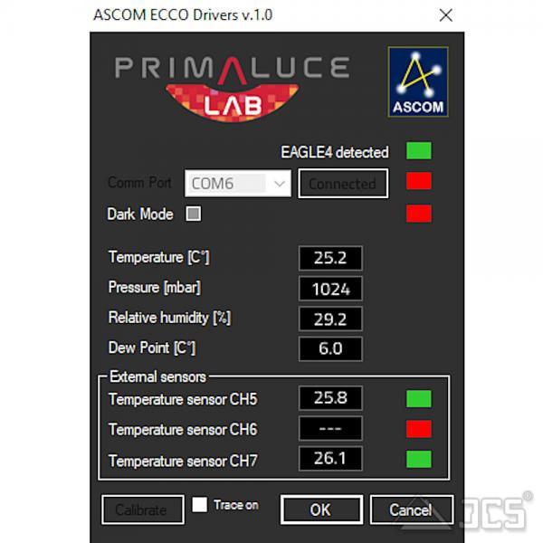 PrimaLuceLab ECCO2 controller für EAGLE Sensor für Luftdruck und Temperatur