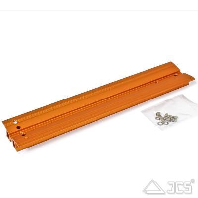 """V-Schwalbenschwanzschiene 345mm orange, incl. Schrauben, für 8"""" SC/HD"""