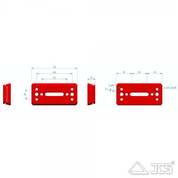 PrimaLuceLab PLUS Vixen Schiene 90mm Universal V-Prismenschiene