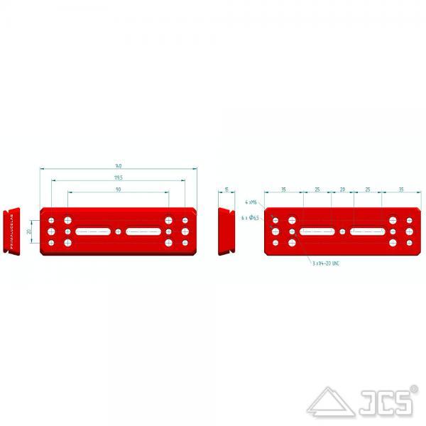 PrimaLuceLab PLUS Vixen Schiene 140mm Universal V-Prismenschiene