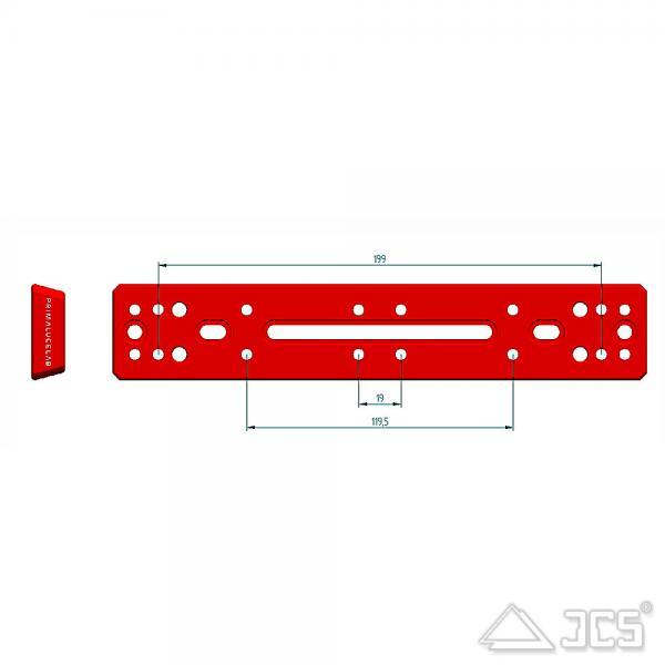 PrimaLuceLab PLUS Vixen Schiene 240mm Universal V-Prismenschiene