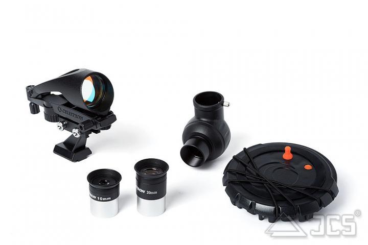 Celestron Inspire 80AZ mit Smartphoneadapter Refraktor 80/900, f/11 mit AZ-Montierung