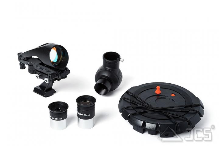 Celestron Inspire 100AZ mit Smartphoneadapter Refraktor 100/660, f/6,6 mit AZ-Montierung