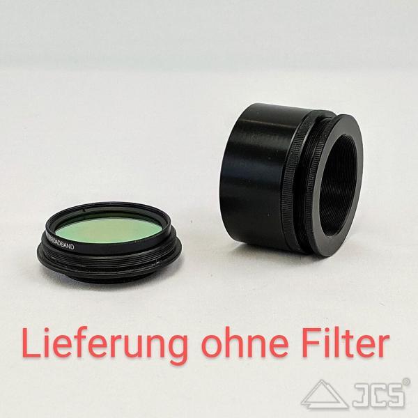 """Variabler Korrektoranschluss mit Filterhalter 2"""" von T2 auf T2 Lichtweg 37mm bis 44mm"""