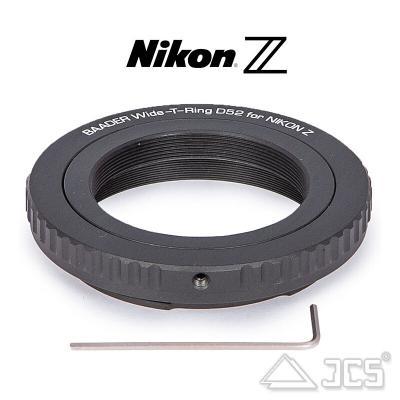 T2 Adapter auf Nikon Z mit S52 Ringschwalbe