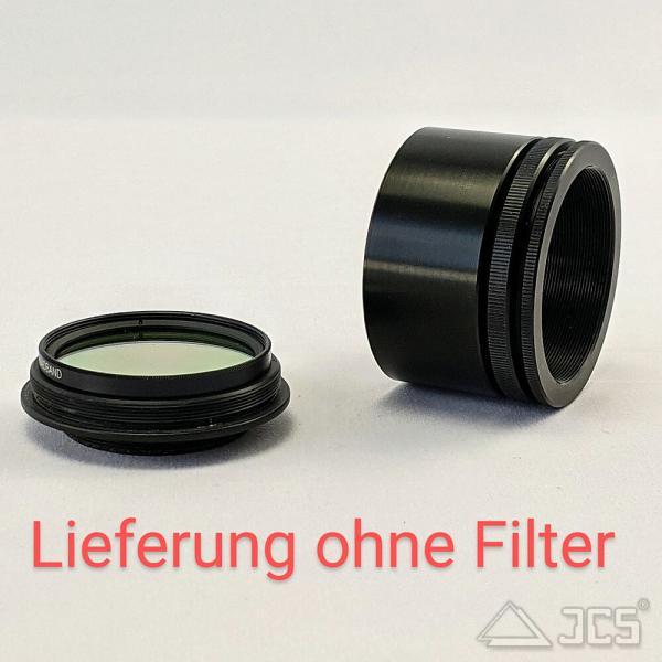 """Variabler Korrektoranschluss mit Filterhalter 2"""" von M48(i) auf T2 Lichtweg 37mm bis 44mm"""