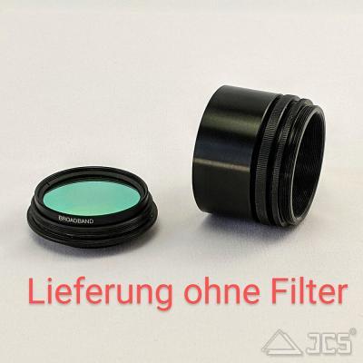 """Variabler Korrektoranschluss mit Filterhalter 2"""" von M54 Wide-T auf T2 Lichtweg 37mm bis 44mm"""
