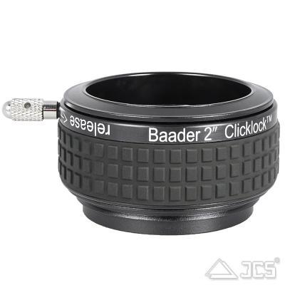 """S58 (Diamond Steeltrack) auf 2"""" ClickLock Klemme für Okularauszüge von Baader Planetarium"""