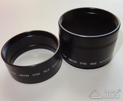 UDA-Anschlußtubus Nikon Coolpix 5700 2-teilig, für UDA beide Teile verwenden