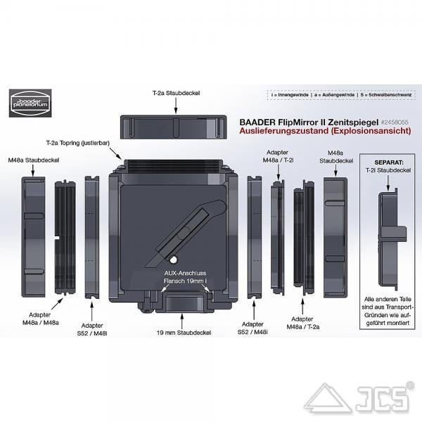 Baader Flip Mirror II Zenitspiegel T2 auf T2