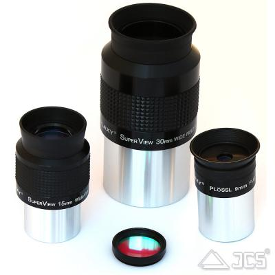 "Kometen-Set: Erfle 30 + 15 mm + Plössl 9 mm + UHC-E 1,25"""