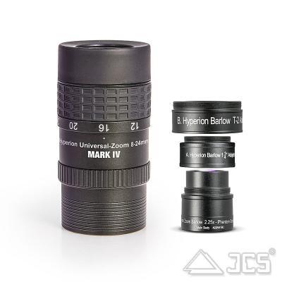 Hyperion Zoom-Set mit 2,25x Zoom-Barlow 8-24mm und 3,5-10mm