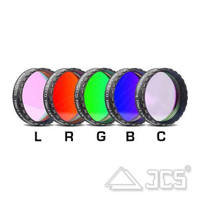 """1,25"""" Baader LRGBC-CCD-Filtersatz bestehend aus 5 Filtern"""