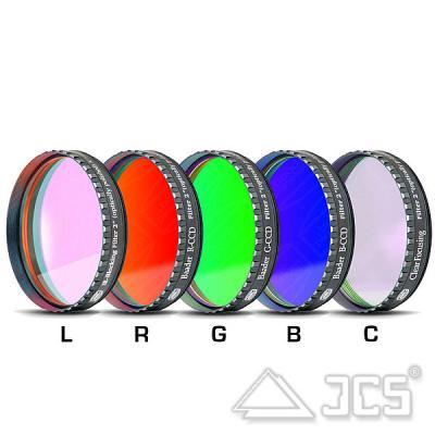 """2"""" Baader LRGBC-CCD-Filtersatz bestehend aus 5 Filtern"""