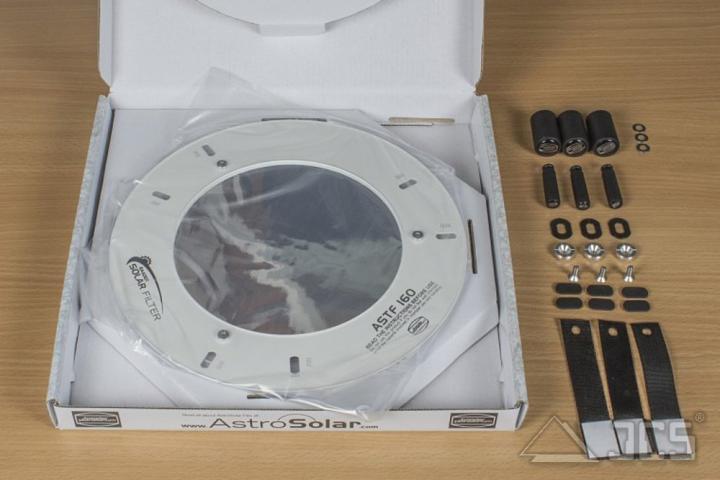 """AstroSolar ND5 Teleskop Aufsteckfilter 80mm, 3,15"""" ASTF mit Sonnenfilterfolie Visuell"""