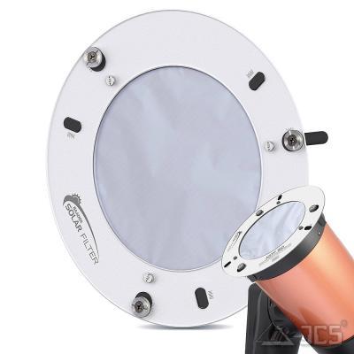 """AstroSolar ND5 Teleskop Aufsteckfilter 180mm, 7,09"""" ASTF mit Sonnenfilterfolie Visuell"""
