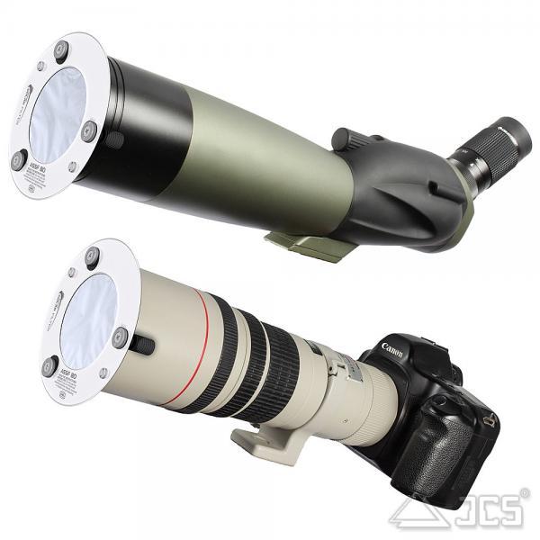"""AstroSolar ND5 Spektiv Aufsteckfilter 50mm, 1,97"""" ASSF mit Sonnenfilterfolie Visuell"""