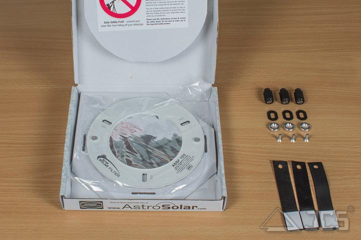 """AstroSolar ND5 Spektiv Aufsteckfilter 80mm, 3,15"""" ASSF mit Sonnenfilterfolie Visuell"""