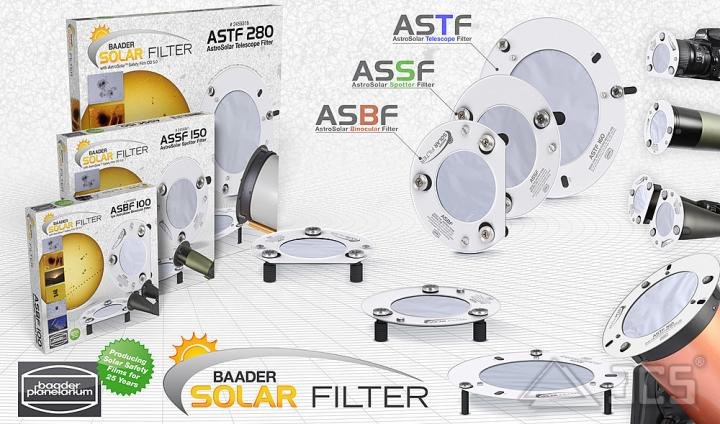 """AstroSolar ND5 Fernglas Aufsteckfilter 60mm, 2,36"""" ASBF mit Sonnenfilterfolie Visuell"""