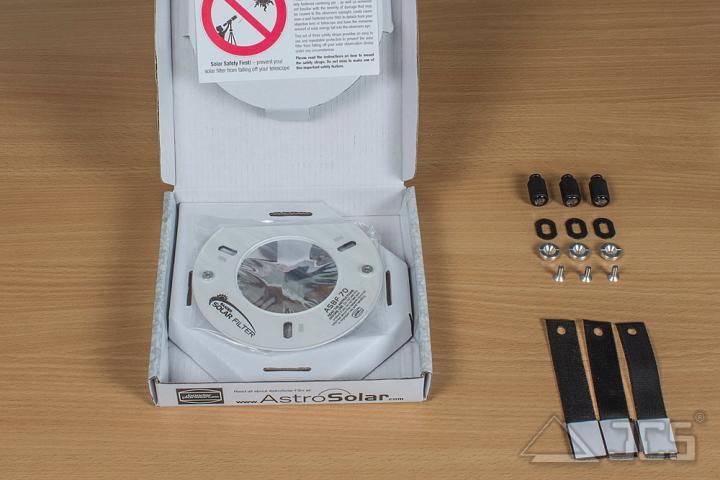 """AstroSolar ND5 Fernglas Aufsteckfilter 100mm, 3,94"""" ASBF mit Sonnenfilterfolie Visuell"""