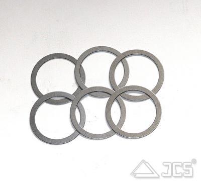 6er Set Distanzringe aus Stahl D50/40 mm
