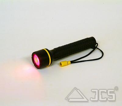 ICS LED-Leuchte 5 mit Umhängeschnur (Rotlicht) und 2 x AA-Batterien