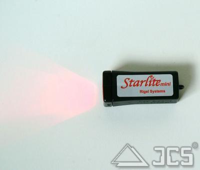 Mini-Starlite, regelbare LED-Leuchte rot dimmbar, incl. 9V Blockbatterie