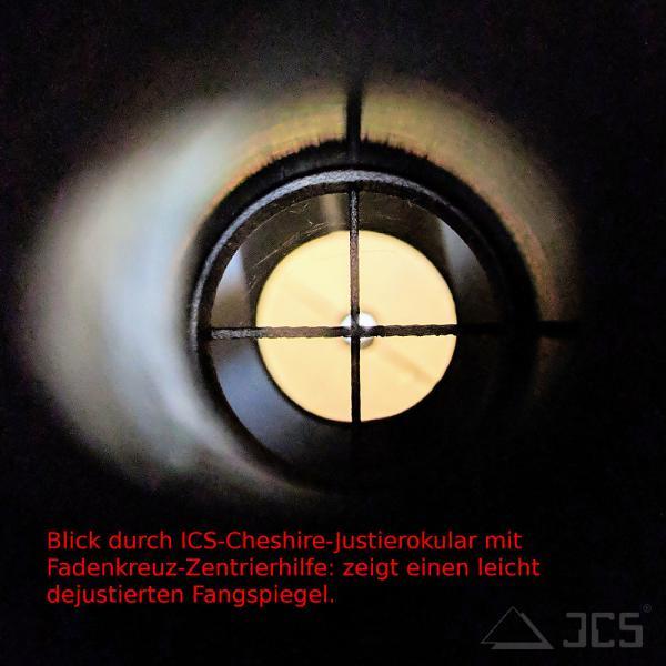 Fadenkreuz Zentrierhilfe für ICS Cheshire Justierokular