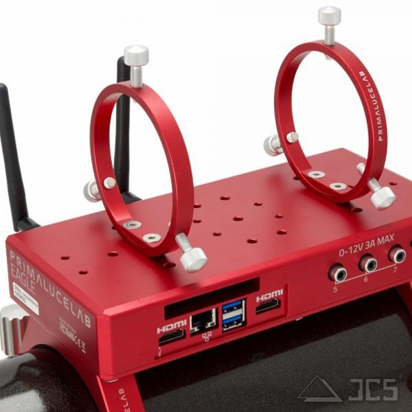 PrimaLuceLab PLUS Leitrohrschellen 80mm Sucherhalter