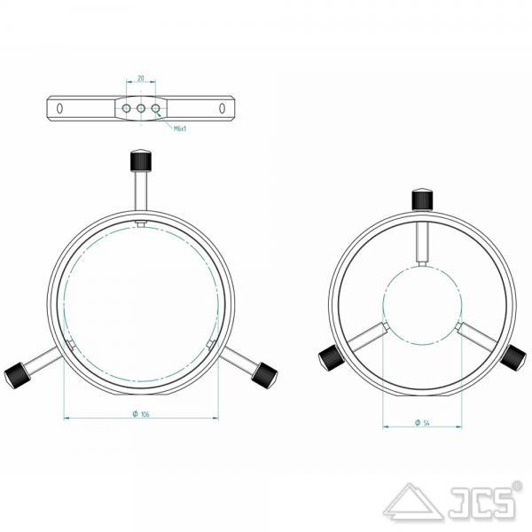 PrimaLuceLab PLUS Leitrohrschellen 115mm Sucherhalter