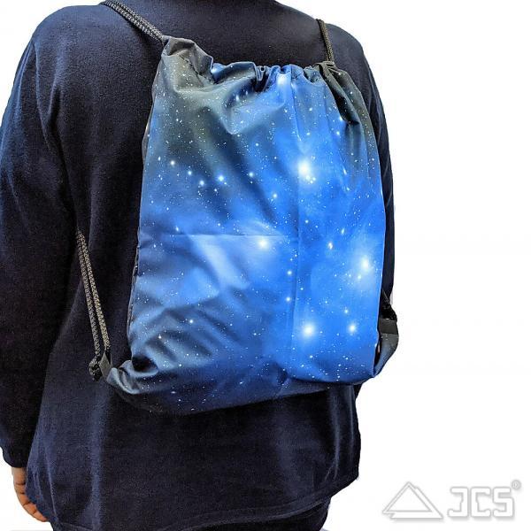 Oklop Beutel-Tasche S Motiv Star Trails 32,5 x 38cm mit Rucksack-Funktion