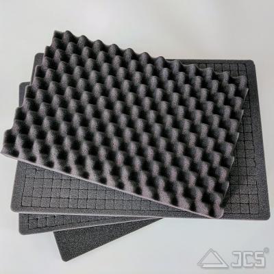 Würfelschaum-Set für Okular-Koffer 43 mit Schaumstoff für Deckel, Innen 43 x 29 x 16 cm