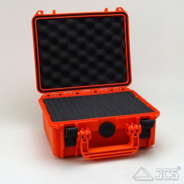 Outdoor Okular-Koffer 23, orange, Würfelschaum, Innen 23 x 18 x 10 cm