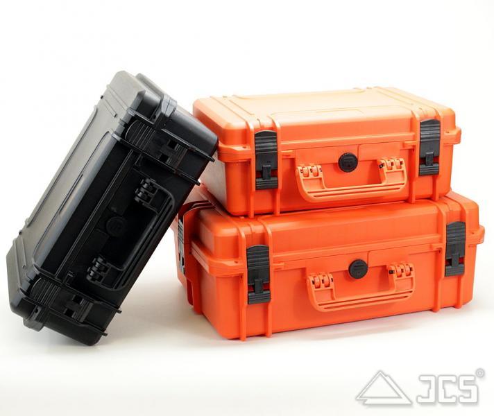 Outdoor Okular-Koffer 43, orange, Würfelschaum, Innen 43 x 29 x 16 cm